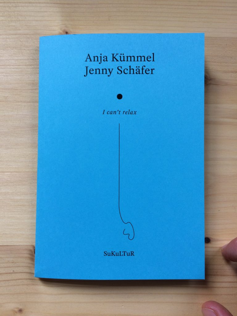 I can't relax_Anja Kümmel_Jenny Schäfer_Cover